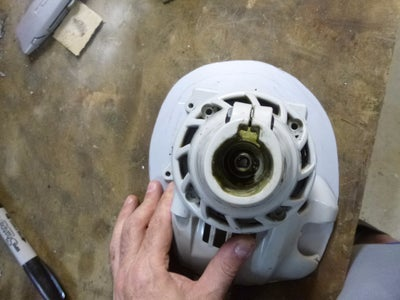 Cutting the Centre Hole in the Adapter Plate