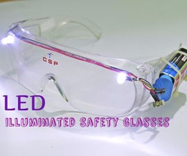 LED Illuminated Safety Glasses