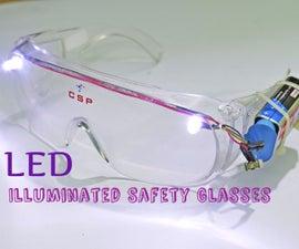 LED Illuminated Safety Glasses
