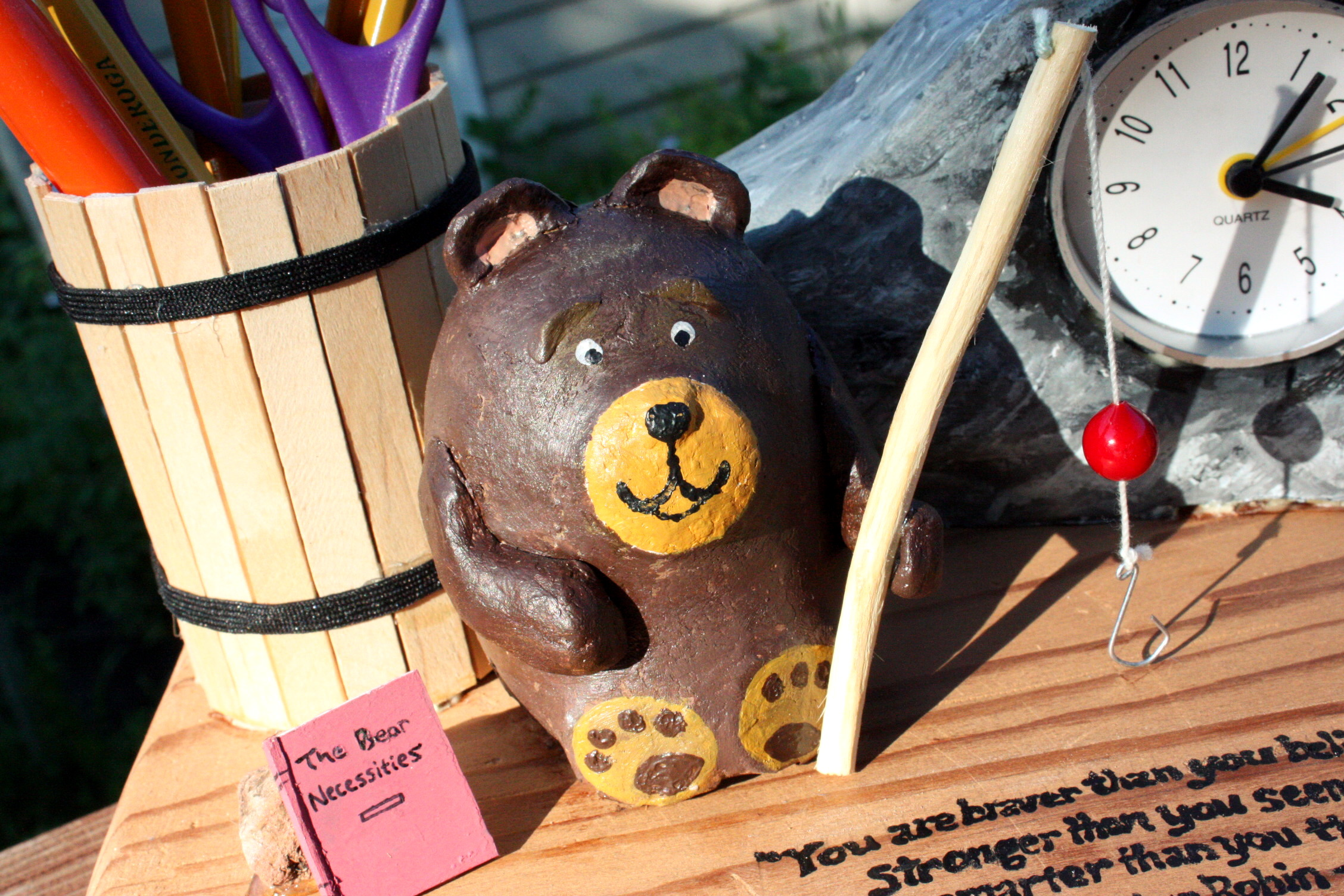 Picture of Bee Creative! ~ Bedside Bear Clock and Lamp