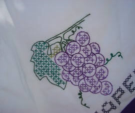Embroidery Tips and Decorating Plain White Dish Towels