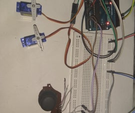 Controlling 2 Servos Using Analog Joystick.