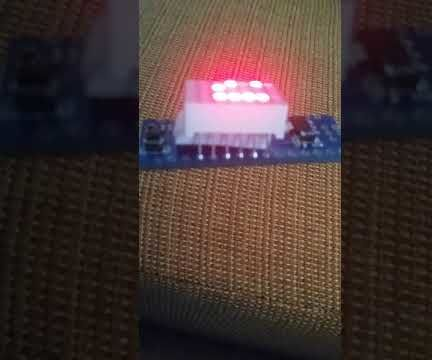 7 Digit Arduino LED Matrix Binary Counter