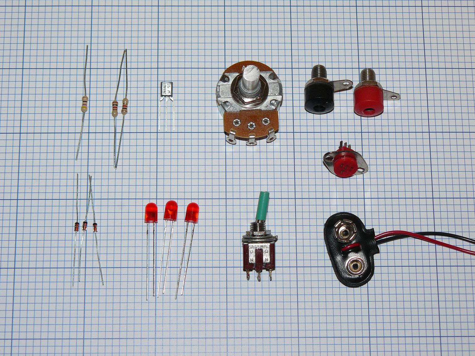 Picture of Parts and Schematic
