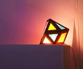 Boba Straw Polyhedron Lamp