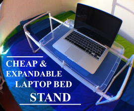 Cheap and expandable laptop bed stand