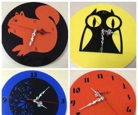 DIY Acrylic Clock by Laser Cutter