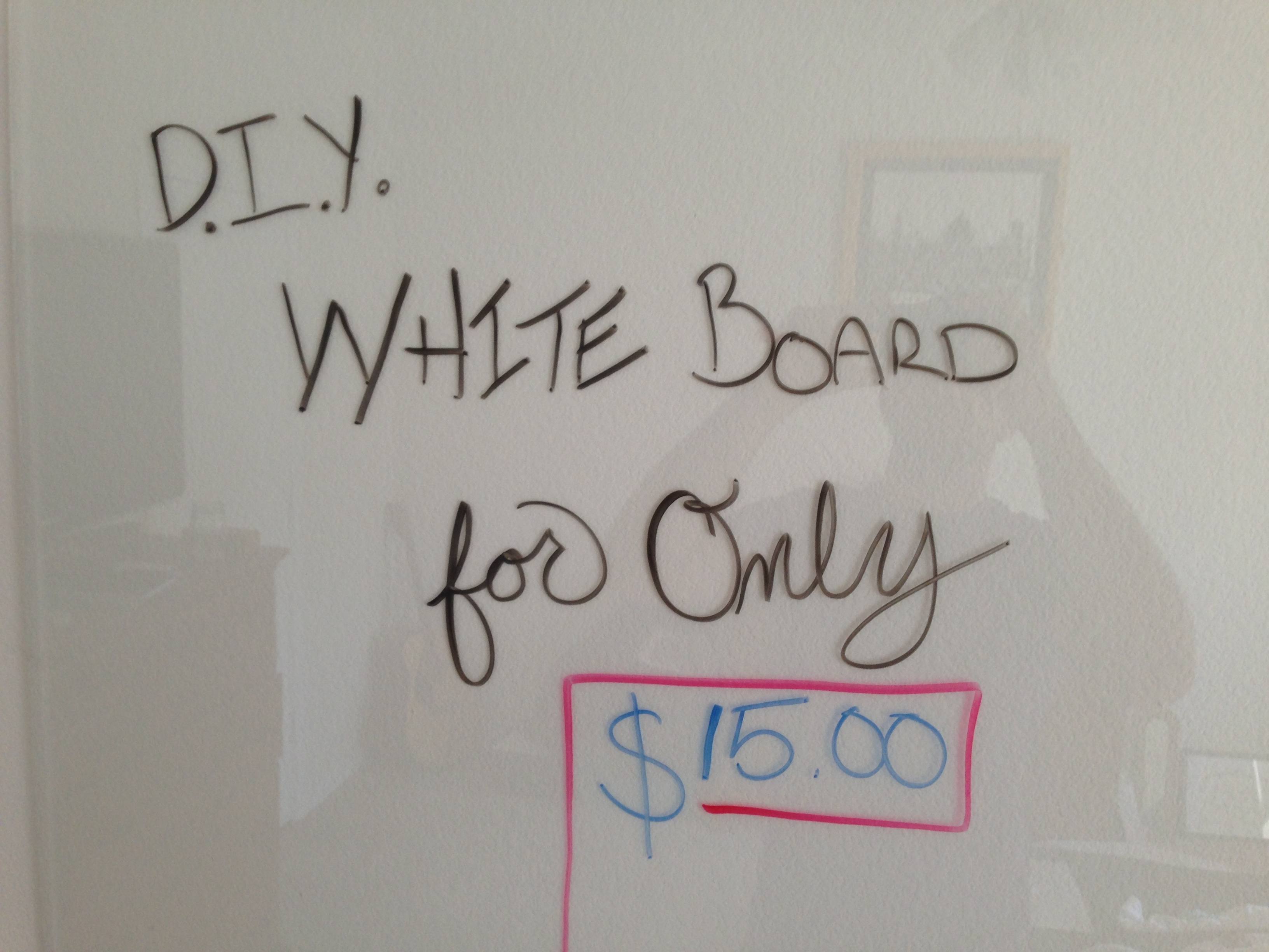 Picture of DIY Glass Dry Erase Board