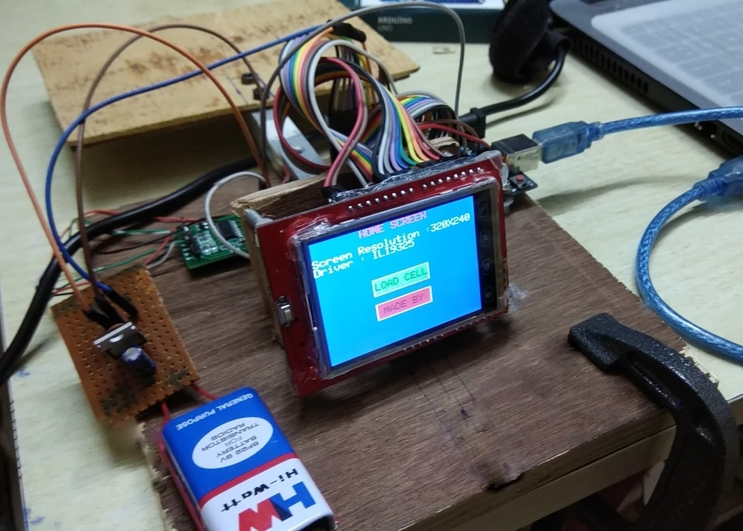 Picture of Weighing Scale With Touchscreen (Arduino)