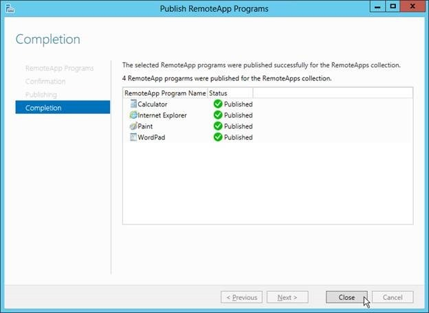 Picture of Step 5: Publish RemoteApp Programs