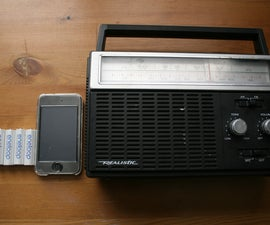 Old Radio Amplifier for iPod