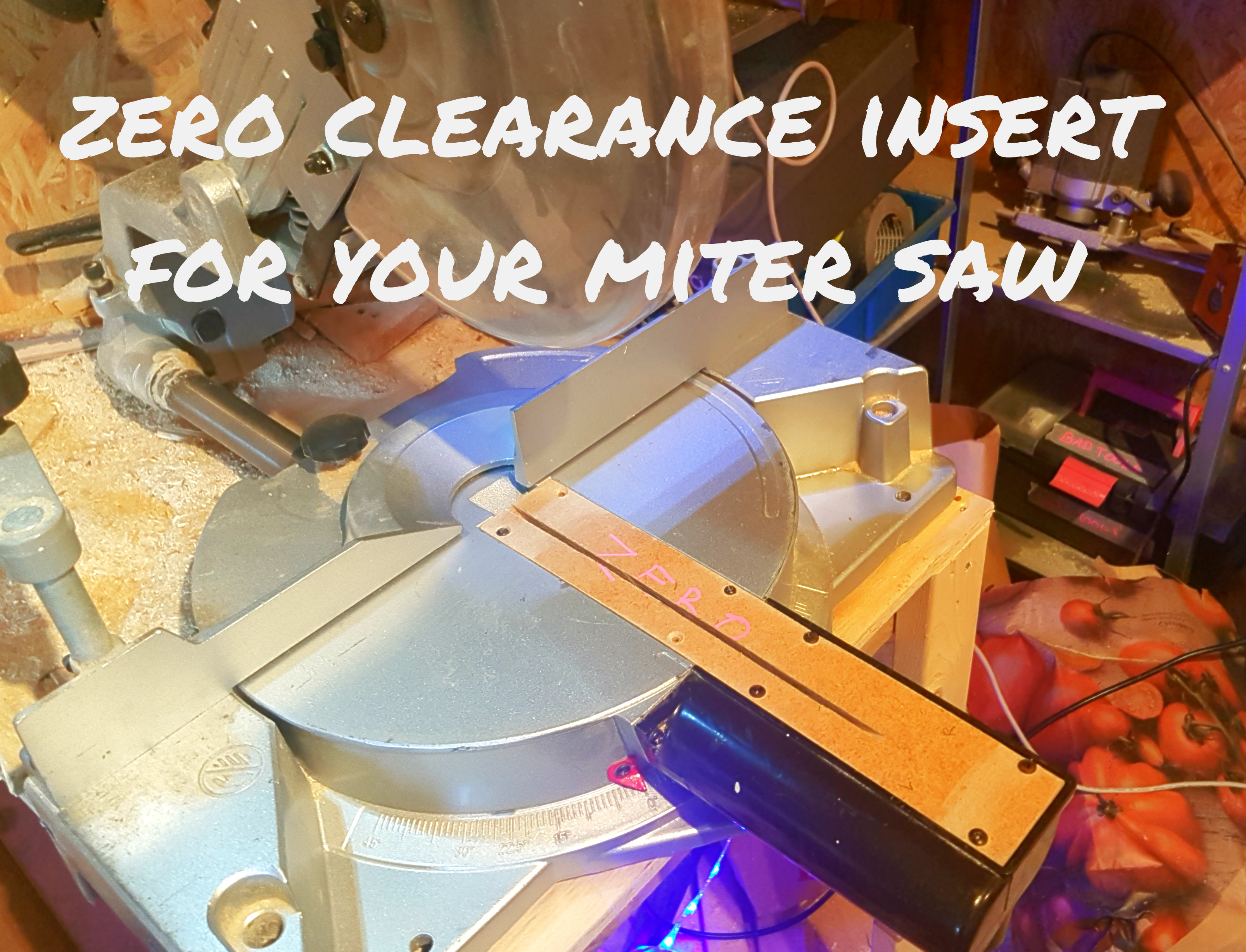 Picture of How to Make a Zero Clearance Insert for Your Miter Saw (and Why?)