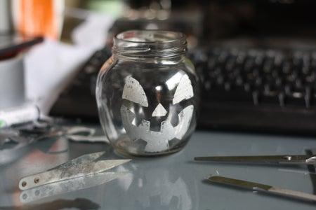 Stick It INSIDE the Glass Jar