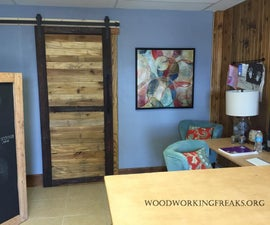 Reclaimed Pallet Wood Sliding Barn Door