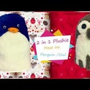 Mr Penguin / Owl (a 2 in 1 Plushie)
