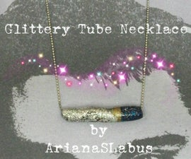 Glittery Tube Necklace
