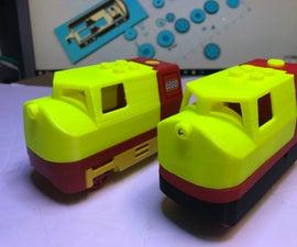 3D Printed Lego Duplo Compatible Motorized Locomotive