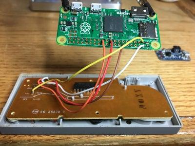 Solder Controller to Pi Zero