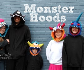 Monster Hoods!  Keep warm and look AWESOME in cold weather!