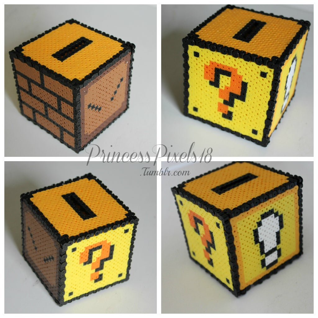 How To Make A 3d Mario Coin Box 4 Steps With Pictures Instructables