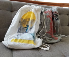 An Improved Version of the Drawstring Bag From a T-shirt