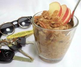 Commuter's Apple Pie Oatmeal