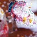 RAINBOW UNICORN MUG CAKE WITH WHITE CHOCOLATE