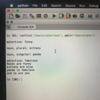 Mad Lib With Python