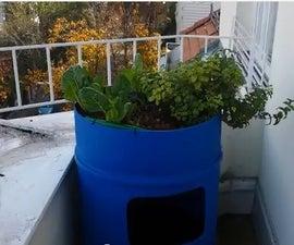 Barrel Aquaponics System for small Balcony