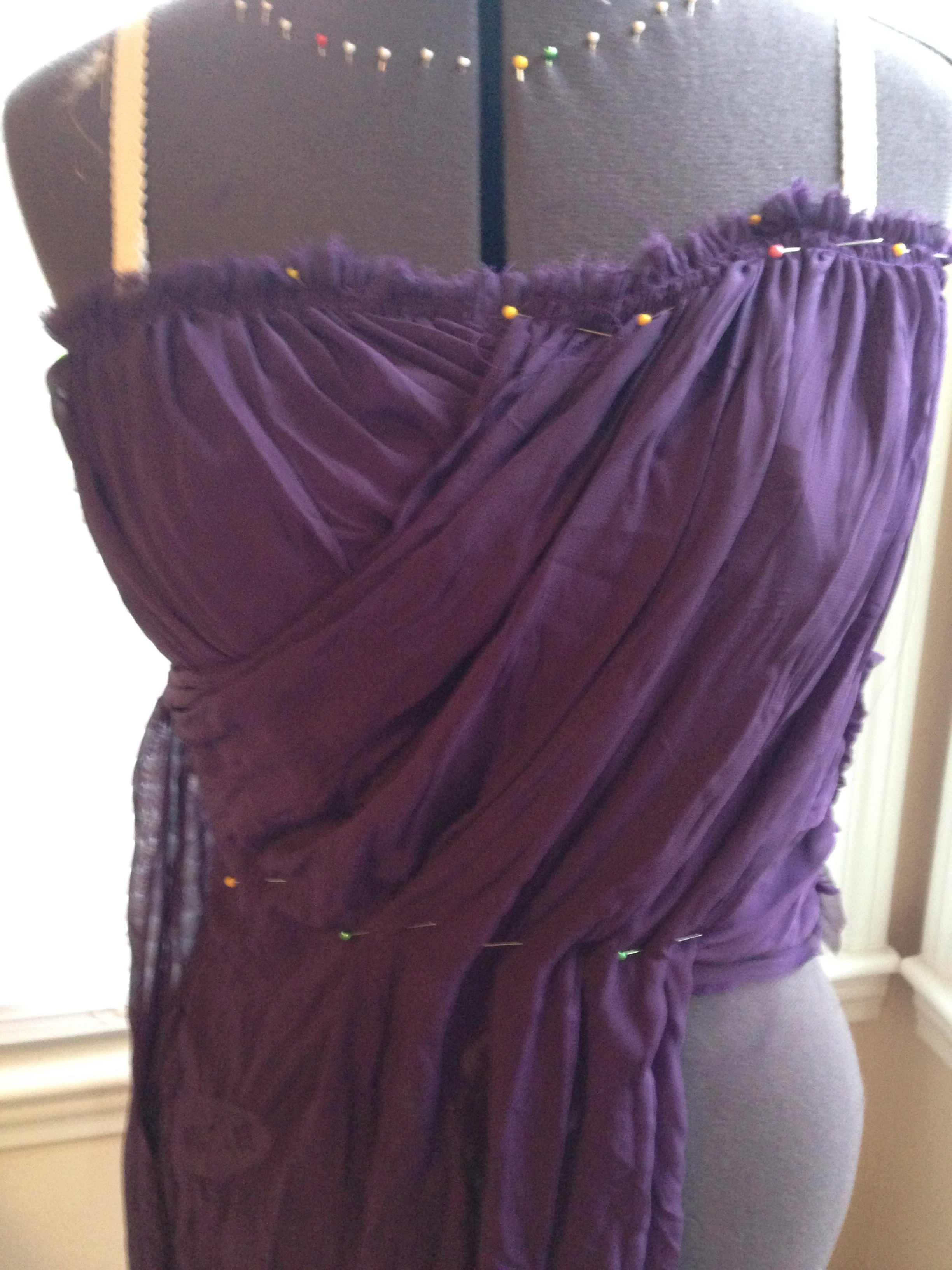 Picture of Drape the Outside Fabric on the Bodice!