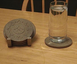 Casting Coasters with Laser cuts and Sand Blaster