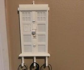 3D Printed Key Hook Tardis Light Switch - Dr Who