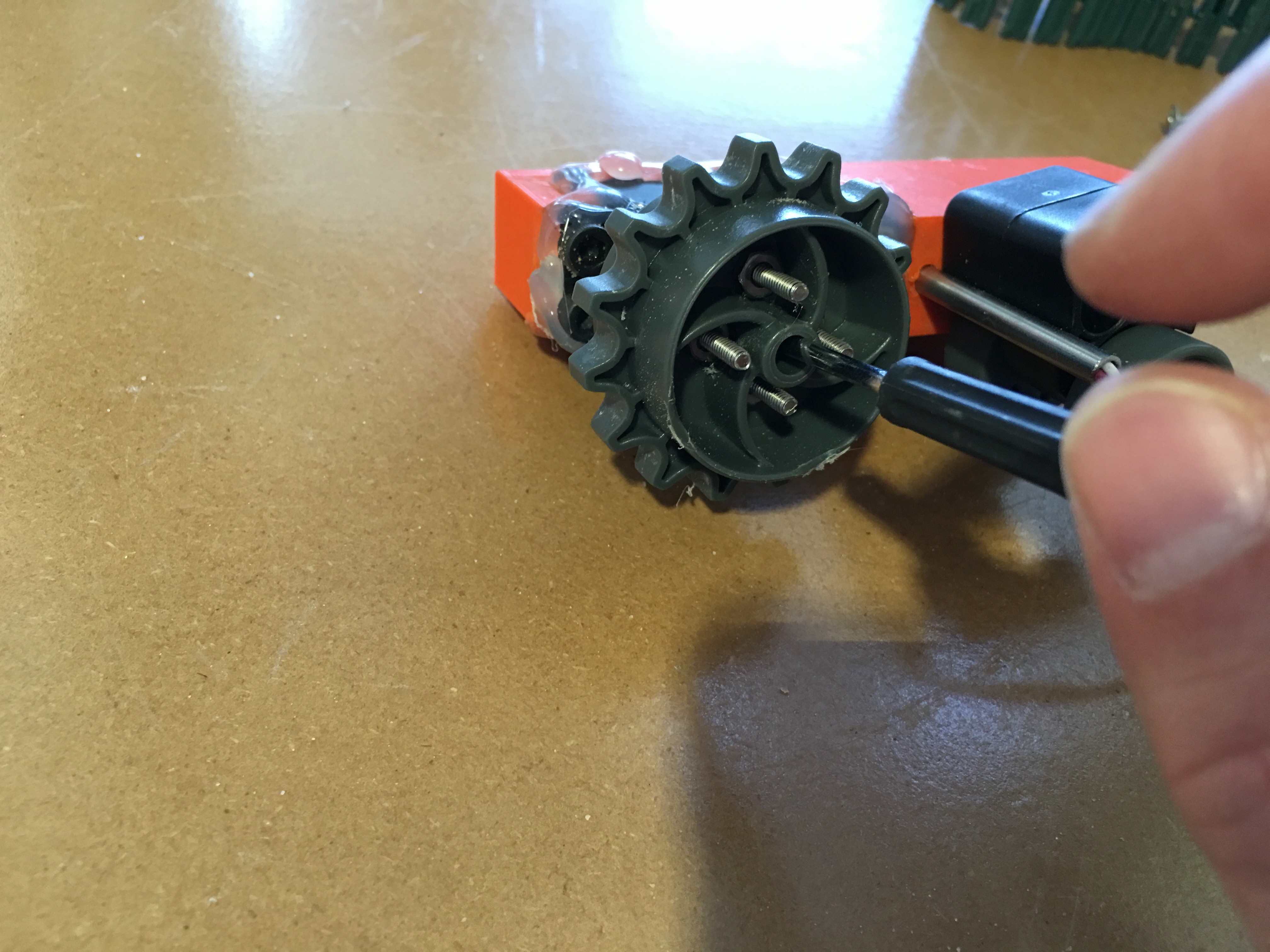 Picture of Preparing Driving Gear and Attaching It Into the Servo Motor