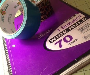 How To- Personalize Your Notebooks With Duct Tape!!!