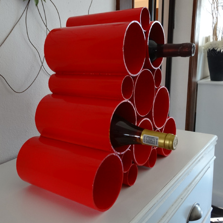 Picture of Easy PVC Pipe Wine Rack