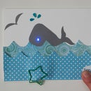 Make a Whale Card With a Hidden Paper Circuit