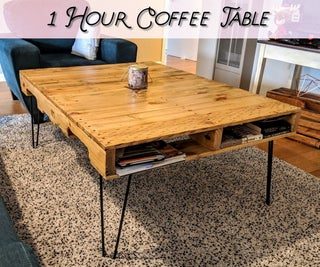 1 Hour Pallet Coffee Table