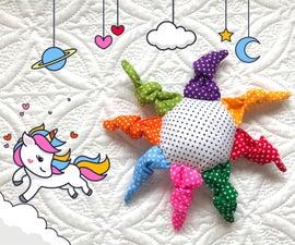 Rainbow Sun Baby Toy Rattle