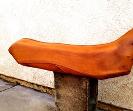 Leather Motorcycle Seat from a Leather Jacket