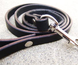 Simple and Strong Leather Lead / Leash