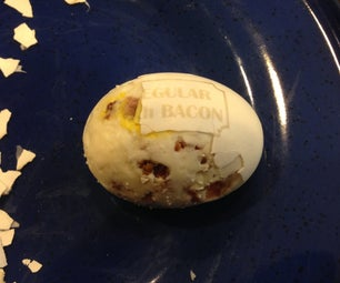 Hard Boiled Eggs With Bacon INSIDE