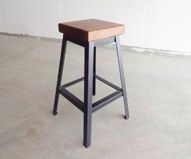 做一个简单的电焊条凳