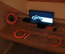 Make a Led Tron Desk and Led Tron Clock