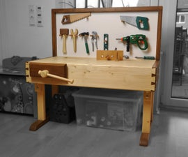 A Small Height Adjustable Workbench - A 2x4 project