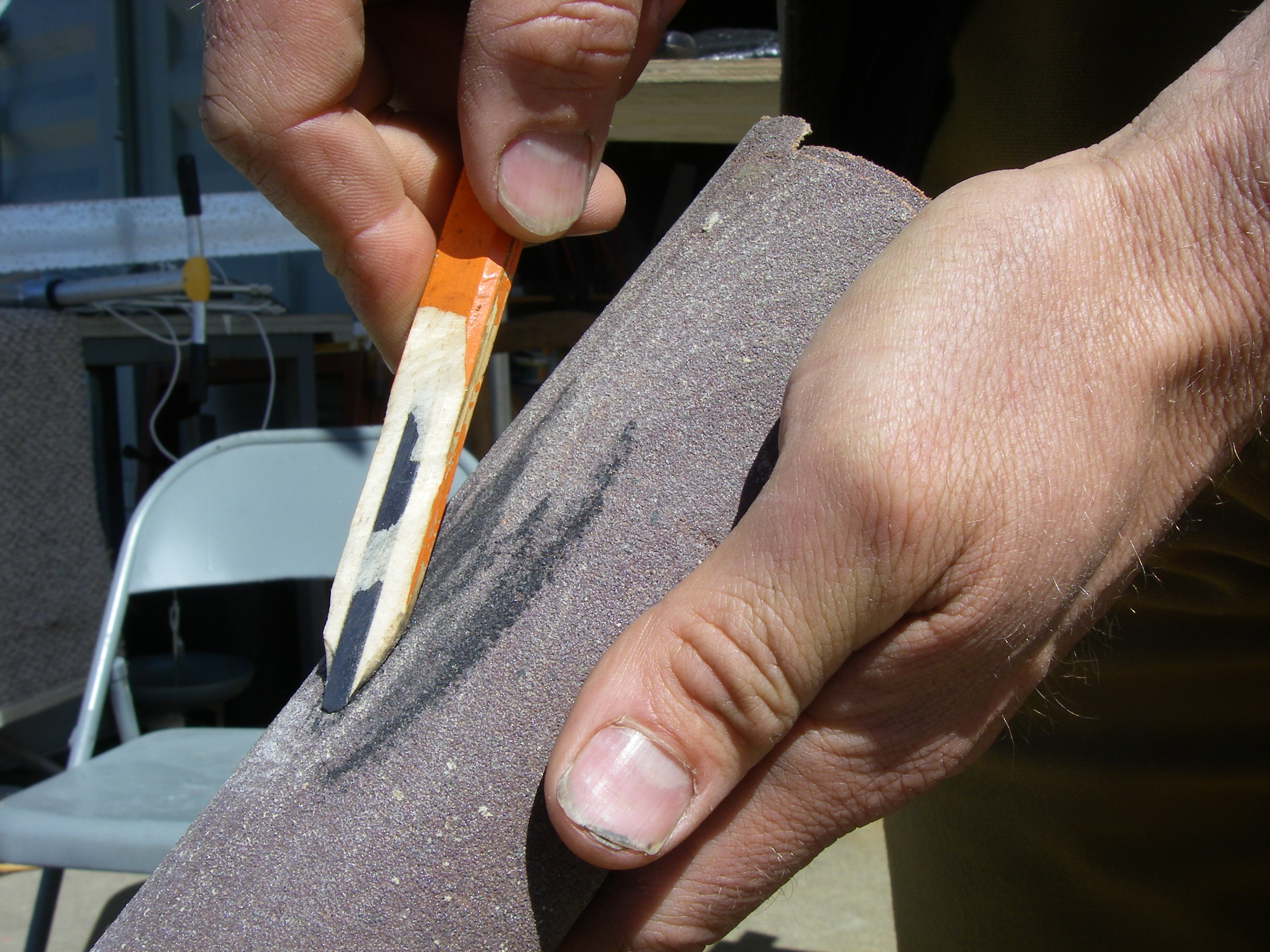 Picture of Sharpen a Pencil in a Funny Way