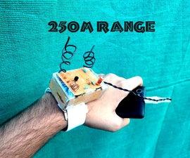 Wearable FM Transmitter(250 m range,easy setup)