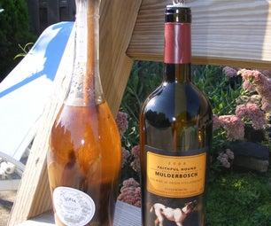 "Wine Bottle ""Tiki"" Torch (Table-top)"