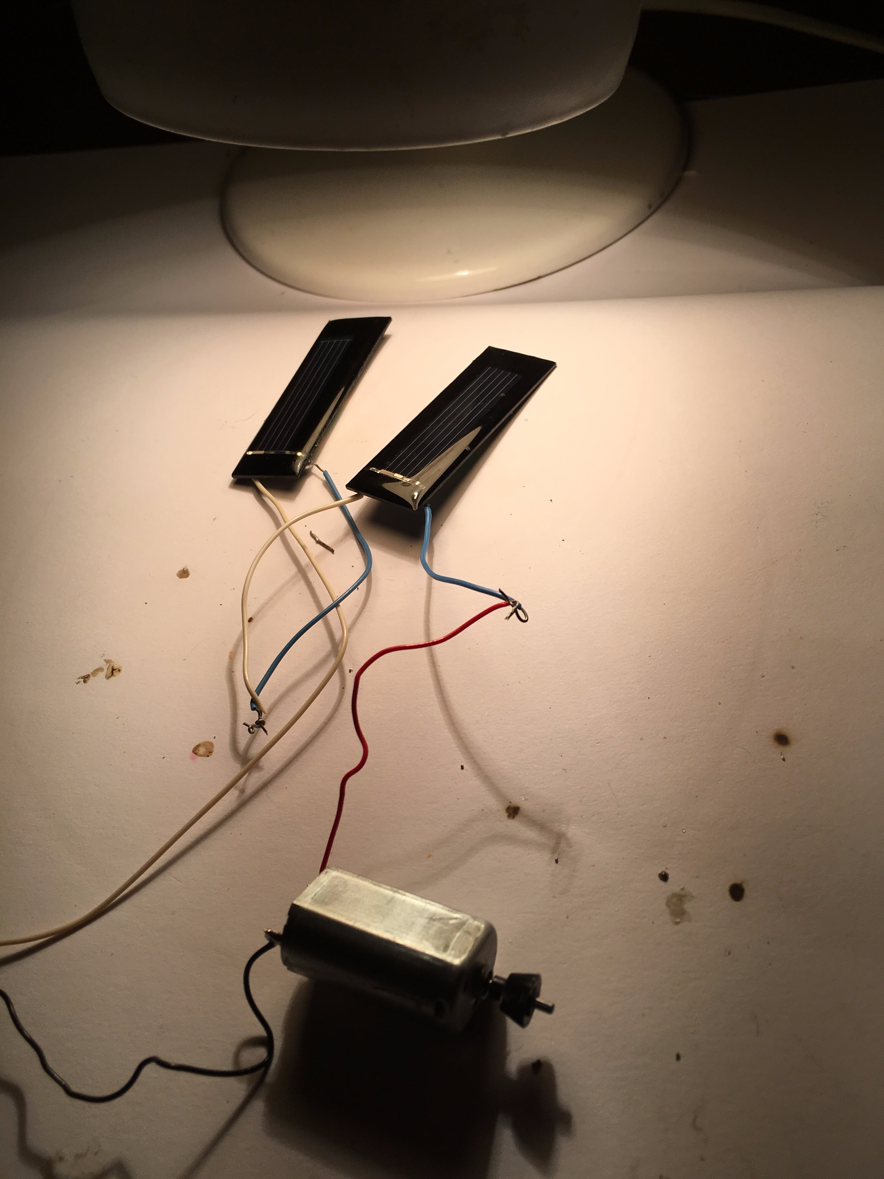 Picture of Solar Panel and Motor Circuit POC
