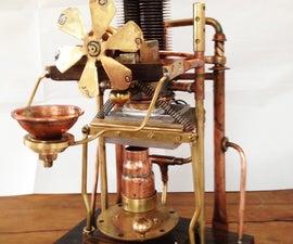 Steampunk Reverse Peltier Machine (aka The electro-mechanical room freshener)