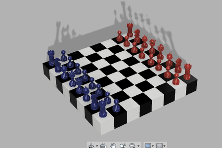 Placing Different Characters on the Chess Board.